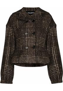 Dolce & Gabbana Checked Jacket - Marrom