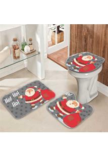 Jogo Tapetes Para Banheiro Papai Noel - Único