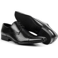d28823f6b2 Sapato Social Couro Bico Fino De Amarrar Bigioni Masculino - Masculino-Preto