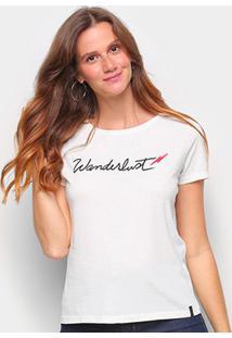 T-Shirt Cantão Slim Wanderlust Feminina - Feminino-Off White