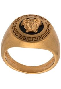 Versace Anel Enamel Icon Medusa - Dourado