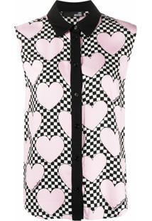 Love Moschino Blusa Sem Manga Com Estampa De Coração - Rosa