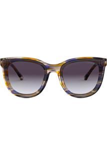 Emporio Armani Óculos De Sol Arredondado - Azul