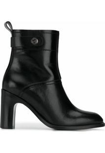 See By Chloé Ankle Boot Com Solado Chunky - Preto