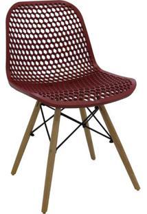 Cadeira De Cozinha Eloisa Estofada Vermelha