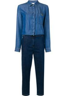 L'Autre Chose Macacão Jeans - Azul