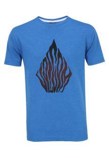 Camiseta Volcom Silk Blooms Day - Masculina - Azul