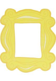 Quadro Placa De Madeira Friends Peephole Door Frame Amarelo 25X1,5X22 Cm Urban