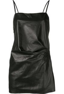 Manokhi Vestido Com Decote Quadrado - Preto
