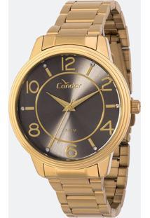Kit Relógio Feminino Condor Co2035Krhk4C Analógico 5Atm + Conjunto Semijóia