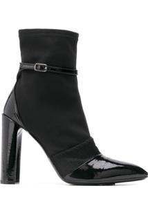 Premiata Ankle Boot 'M5033' De Couro Envernizado - Preto