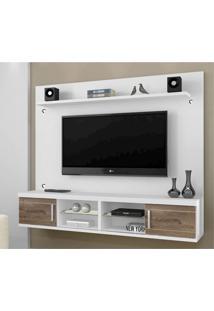 Painel Para Tv 60 Polegadas Valença 156 Cm Branco E Chocolate