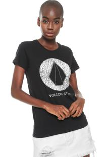 Camiseta Volcom True Life Today Preta