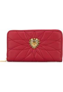 Dolce & Gabbana Carteira Continental Devotion - Vermelho