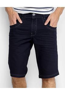 Bermuda Jeans Zune Lavagem Escura Masculina - Masculino