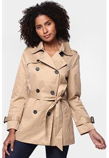 Jaquetas E Casacos Miose Feminino Trench Coat-Cps03/16017 - Feminino-Marrom