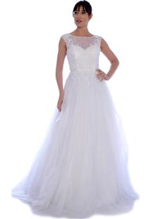 06925200e R$ 2000,00. Dafiti Vestido Gowara Noiva Branco