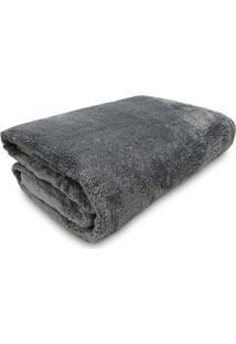Cobertor Casal Jolitex Kyor Plus Liso Cinza
