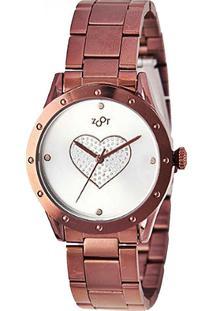 Relógio Zoot Heart Zw10079-N Chocolate