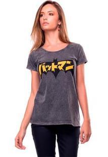 Camiseta Estonada Japan Useliverpool Feminina - Feminino-Preto