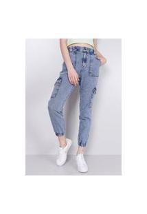 Calça Jeans Jogger Cargo Gang Feminina