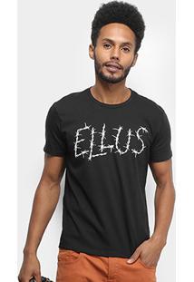 Camiseta Ellus Cotton Fine Ellus Barbed Wire Classic Masculina - Masculino-Preto
