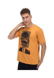 Camiseta O'Neill Estampada Wave Head - Masculina - Amarelo