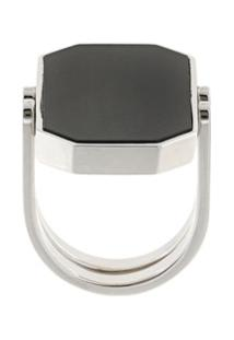 Julia Davidian Convertible Octagonal Ring - Prateado