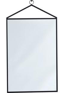 Espelho Preto Metal Mart Collection