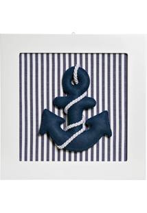 Quadro Decorativo Âncora Marinheiro Bebê Infantil Potinho De Mel Marinho