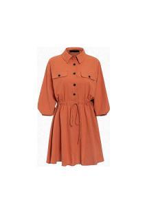 Vestido Camisão Munich Feminino - Laranja