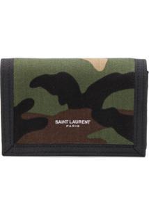 Saint Laurent Carteira Com Estampa Camuflada - Verde