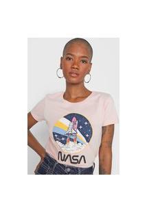 Camiseta Hering Nasa Rosa