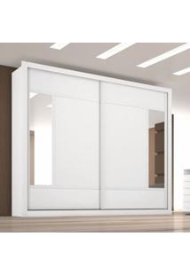 Guarda Roupa Casal Com Espelho 2 Portas De Correr Paris Made Marcs Branco Ac/Caramelo/Branco