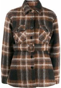 Andamane Evita Belted Shirt Jacket - Preto