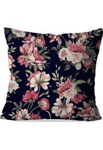 Capa De Almofada Avulsa Decorativa Flowers Pink 45X45Cm