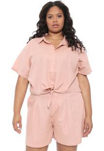 Camisa Chata De Galocha Para Dafiti Amarração Rosa
