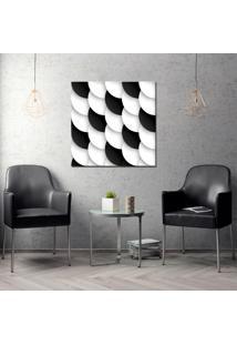 Quadro 70X70Cm Scales Preto Branco Decorativo Interiores - Oppen House