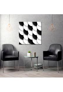 Quadro Oppen House 70X70Cm Scales Preto Branco Decorativo Interiores