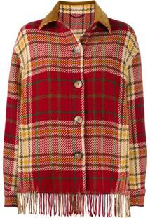 Etro Checked Shirt Jacket - Vermelho
