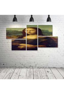 Quadro Decorativo - Mona-Lisa - Composto De 5 Quadros - Multicolorido - Dafiti
