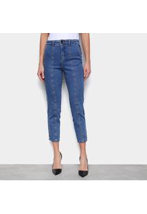Calça Jeans Mom Biotipo Recorte Frente Feminina - Feminino
