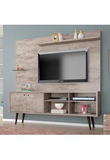 Estante Home Para Tv Até 55 Polegadas 2 Portas Retrô Turquesa Móveis Bechara Vanilla Rústico
