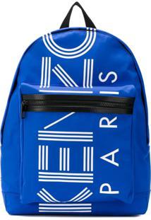 Kenzo Mochila Com Estampa De Logo - Azul