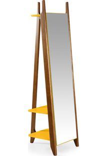 Espelho Stoka – Máxima - Nogal / Amarelo