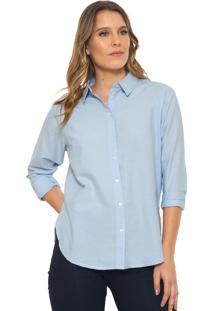 Camisa Jdy Recortes Azul