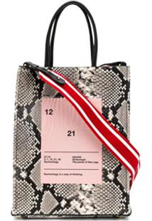 Nº21 Bolsa Tiracolo Com Animal Print - Preto