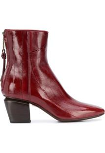 Officine Creative Ankle Boot Vinciene - Vermelho