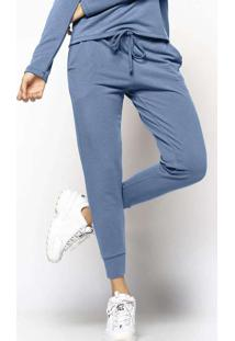 Calça Comfy Jogger Moletinho Azul Azul