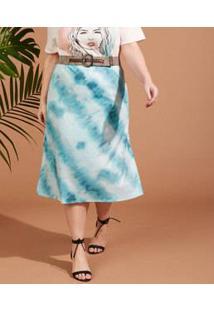 Saia Feminina Midi Estampa Tie Dye Plus Size Marisa